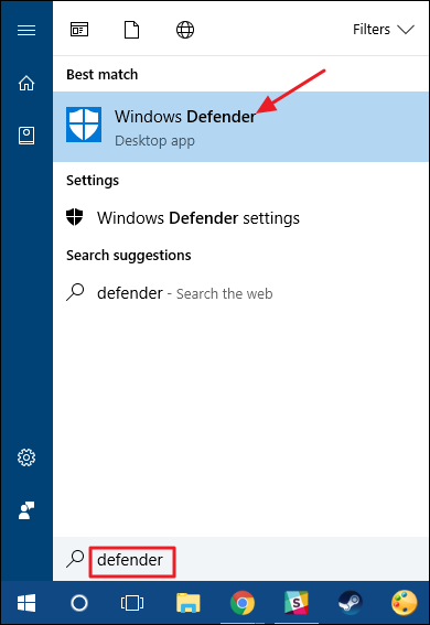 disable windows defender step 1