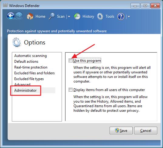 Windows Defender Disable - Step 3