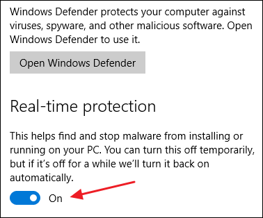 disable windows defender step 3