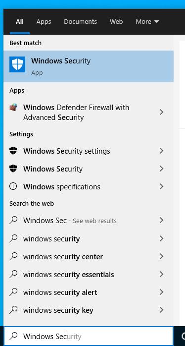 Windows Security