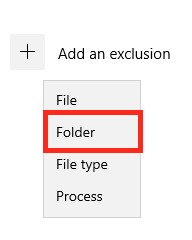 Exclude Folder